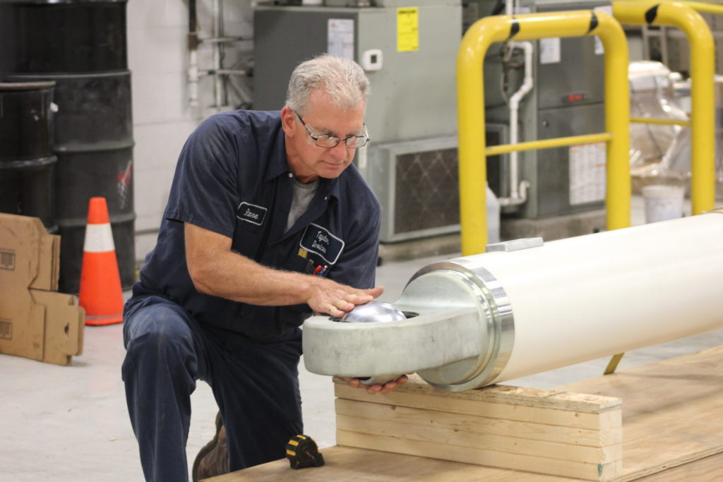 Inspecting damper before being shipped